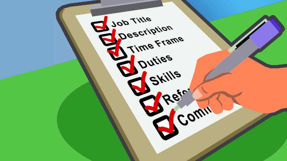 وصف وظيفي واضح لتعيين مستقل